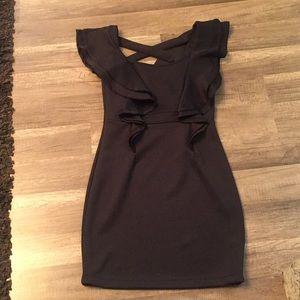 Xtaren Ruffled Crisscross back Dress Size M